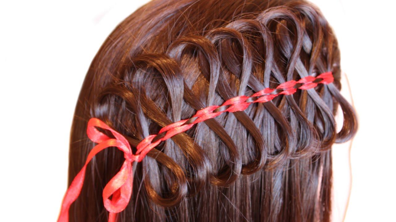 прически смотреть видео плетение косы