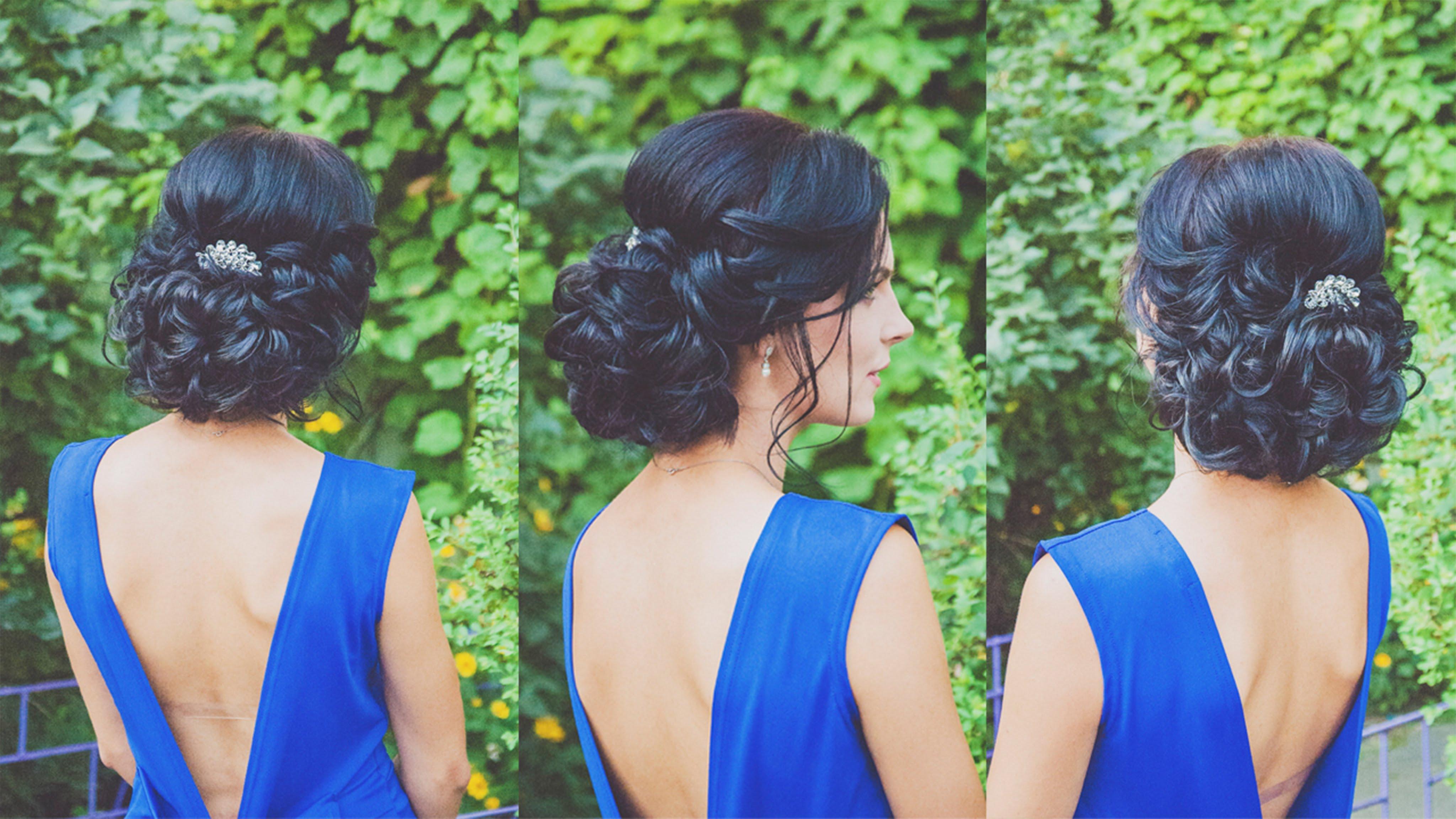 Прическа с искуственными волосами